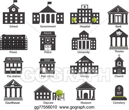 clip art freeuse stock Courthouse clipart government. Vector art black and