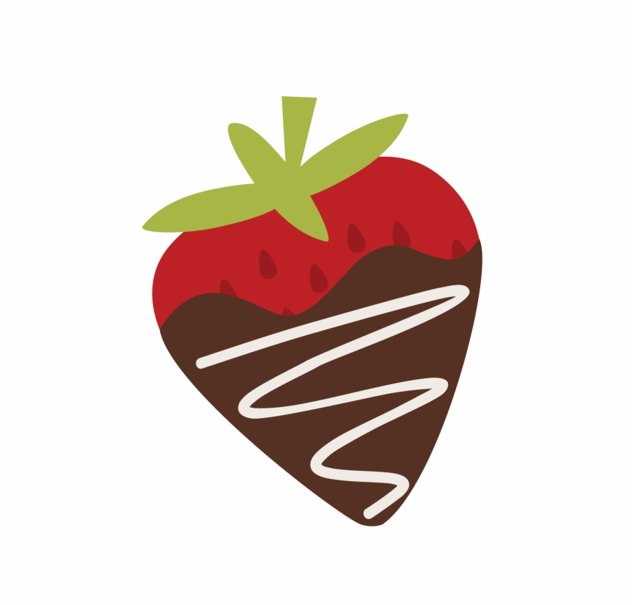 graphic library stock Covered clipart. Chocolate strawberry svg free