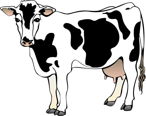 vector library stock Cow Clip Art Black And White