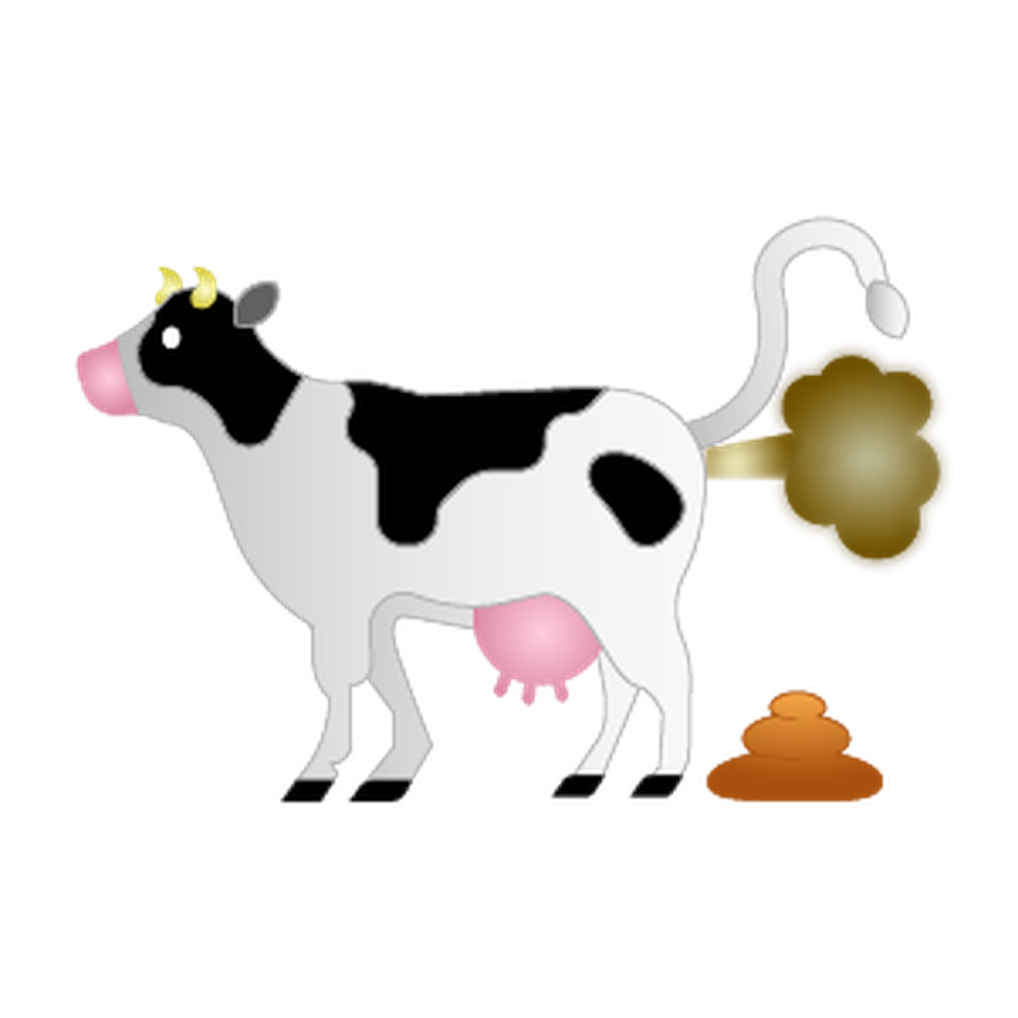 jpg library stock Cow clipart waste. Anxious about climate change