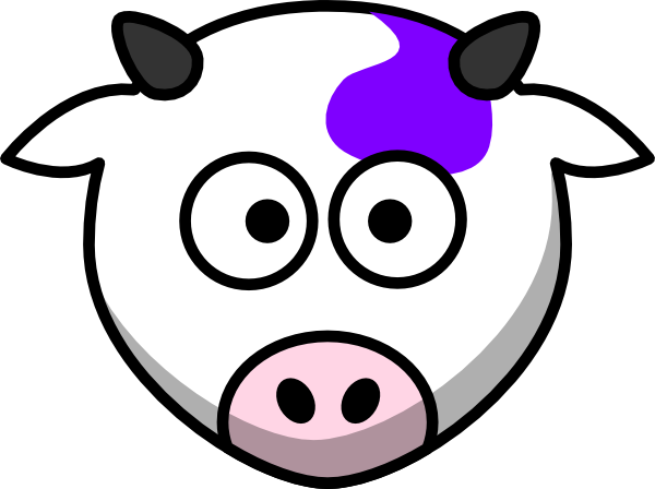 vector royalty free stock Cow Face Clipart