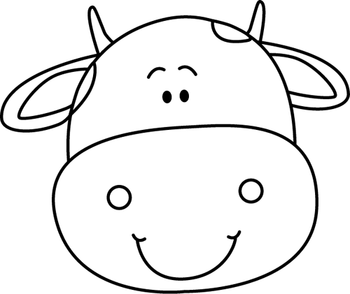 png black and white download Cow face clipart black and white. Head patterns templates kal