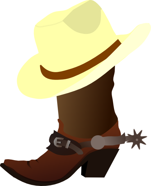 clip free stock White Cowboy Hat And Boots Clip Art at Clker
