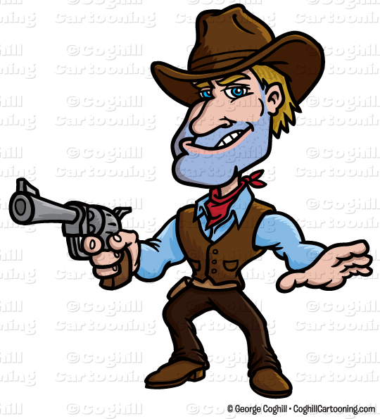svg library download Cowboy clipart. Cartoon gunslinger clip art