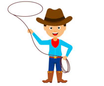 graphic freeuse Cowboy clipart. Free cowboys clip art