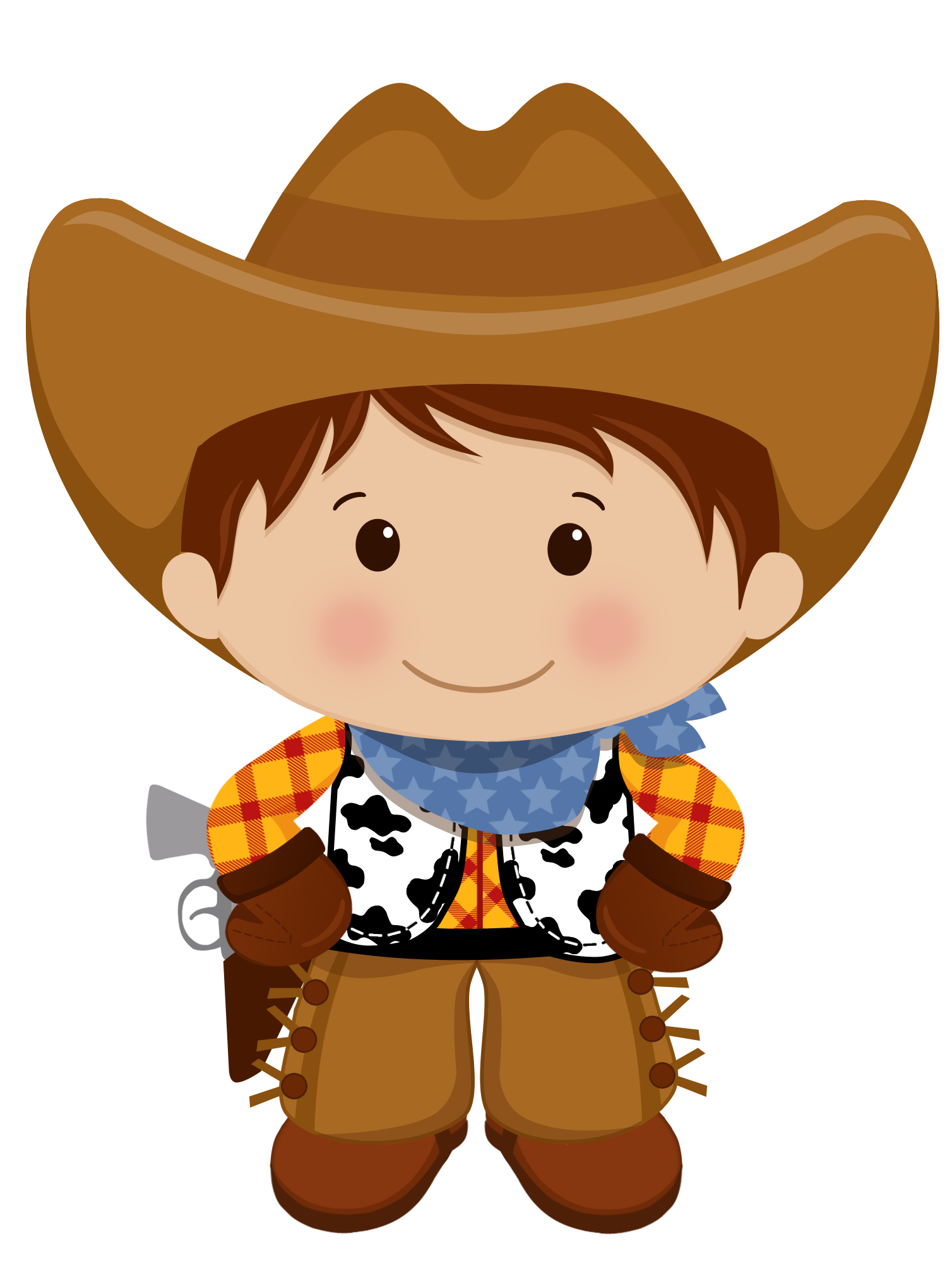 svg transparent stock Western theme clipart. Brown haired cowboy vaqueros