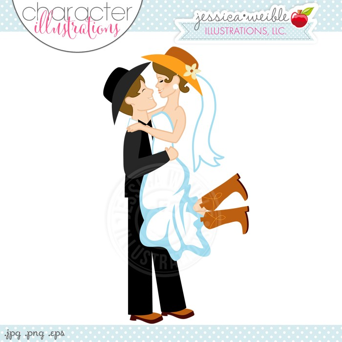 svg free library Free cowboy love cliparts. Western wedding clipart