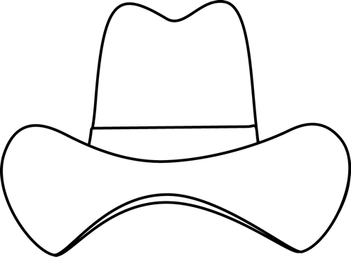 image library library Cowboy panda free images. Hat clipart black and white