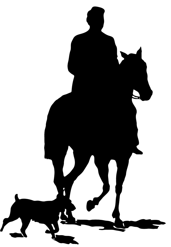 graphic black and white library Cowboy On A Horse Silhouette at GetDrawings