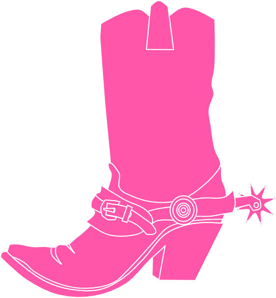 clip black and white Cute Cowboy Boots Clipart