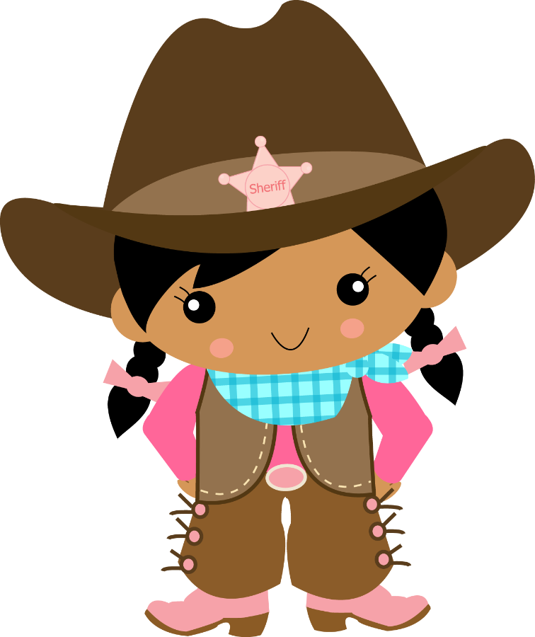 image royalty free Cowgirl clipart. Cowboy e minus dibujos.
