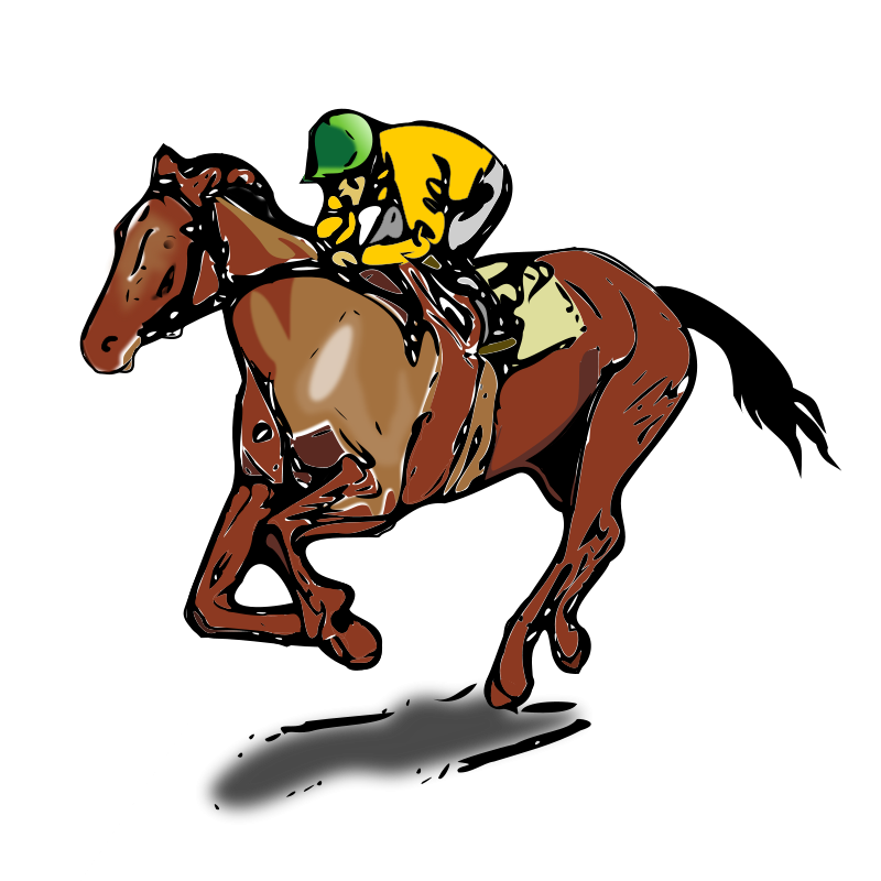 clipart transparent Horse Racing Silhouette at GetDrawings