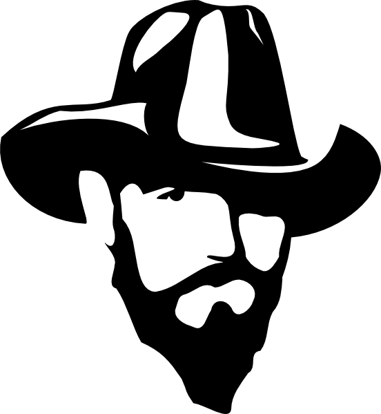 clip art transparent download Cowboy hat free on. Beard clipart silhouette