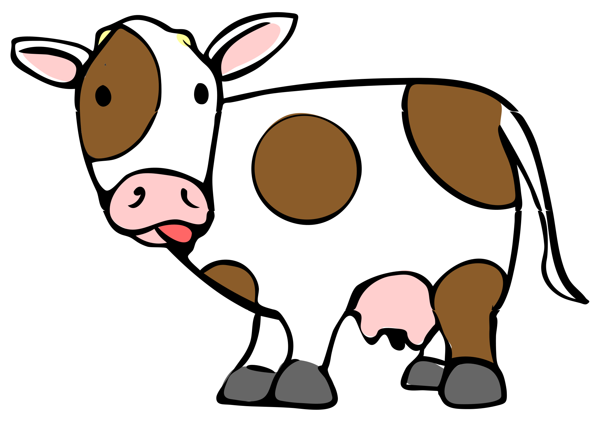 svg royalty free stock cow eating clipart #61728762