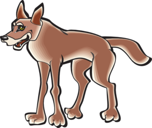 banner transparent download Cartoon clip art at. Coyote clipart animated