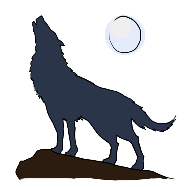 banner free stock How to draw a. Howling clipart cartoon.