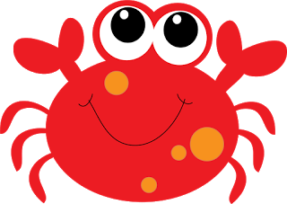 clipart black and white stock Crab clipart. Cute baby .