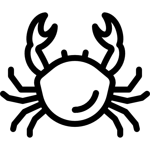 banner royalty free library Crab transparent white. Icon png svg