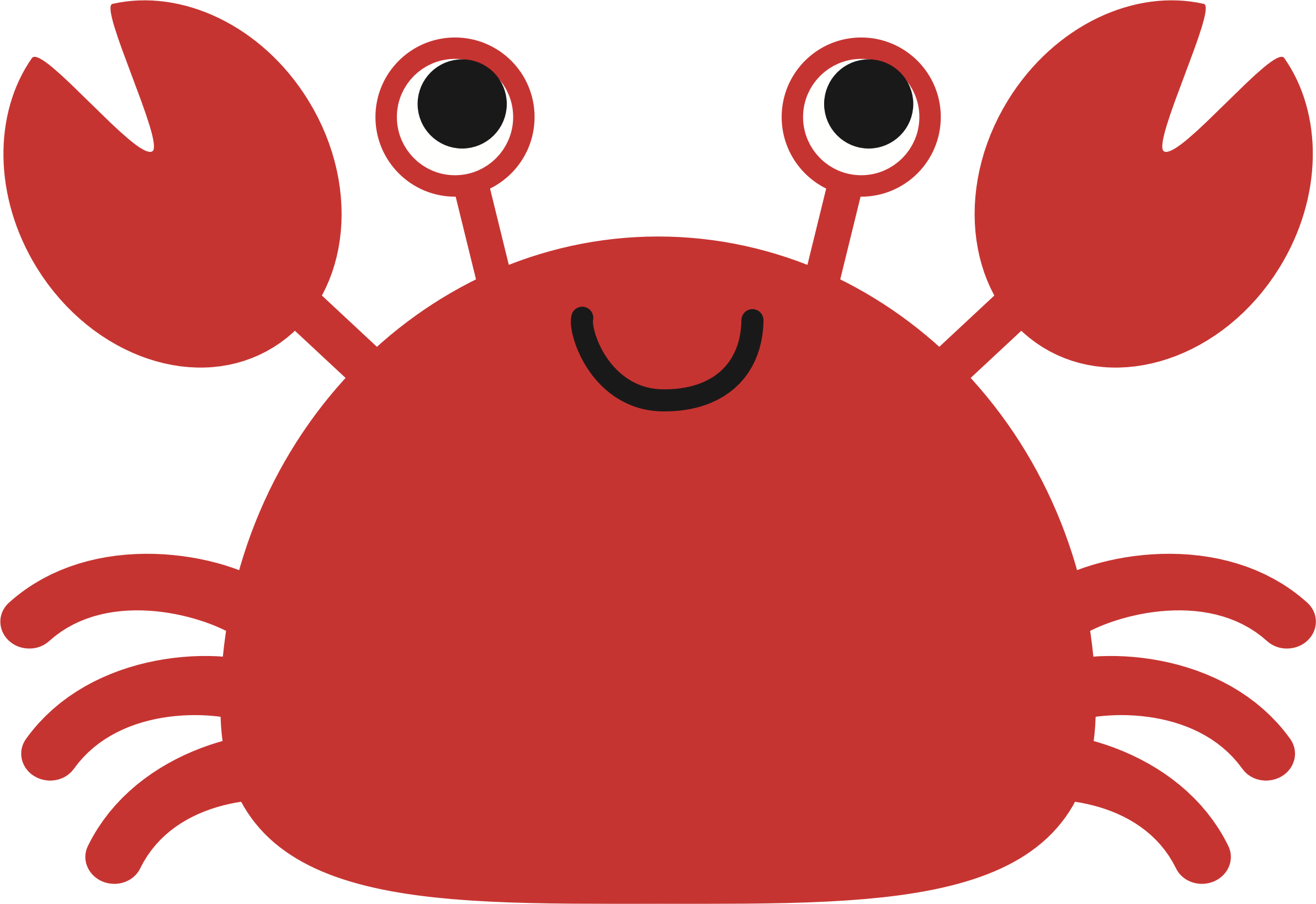 picture freeuse Cute crab big image. Crabs clipart.