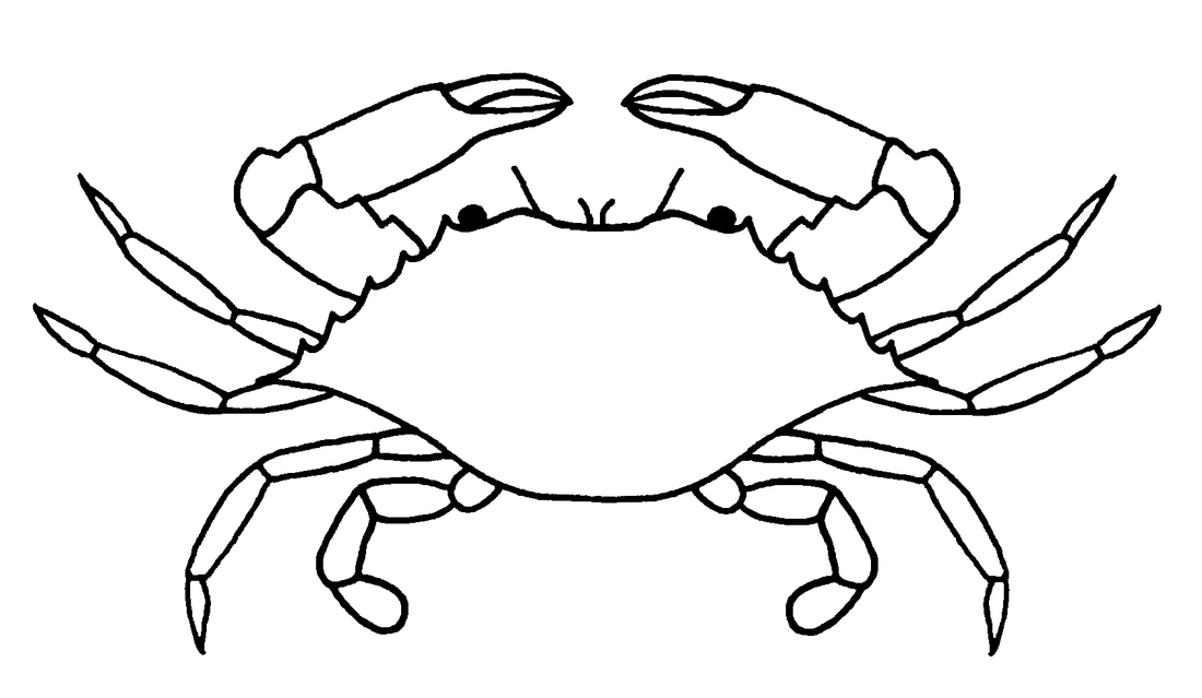 graphic freeuse download Blue Crab Drawing at GetDrawings