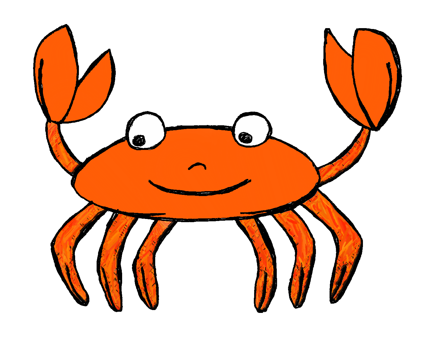 jpg royalty free Animal picture clipart. Crab black and white