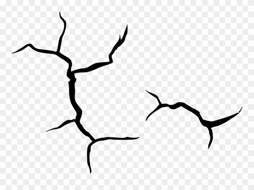 clipart black and white  px clipart pinclipart. Crack drawing.
