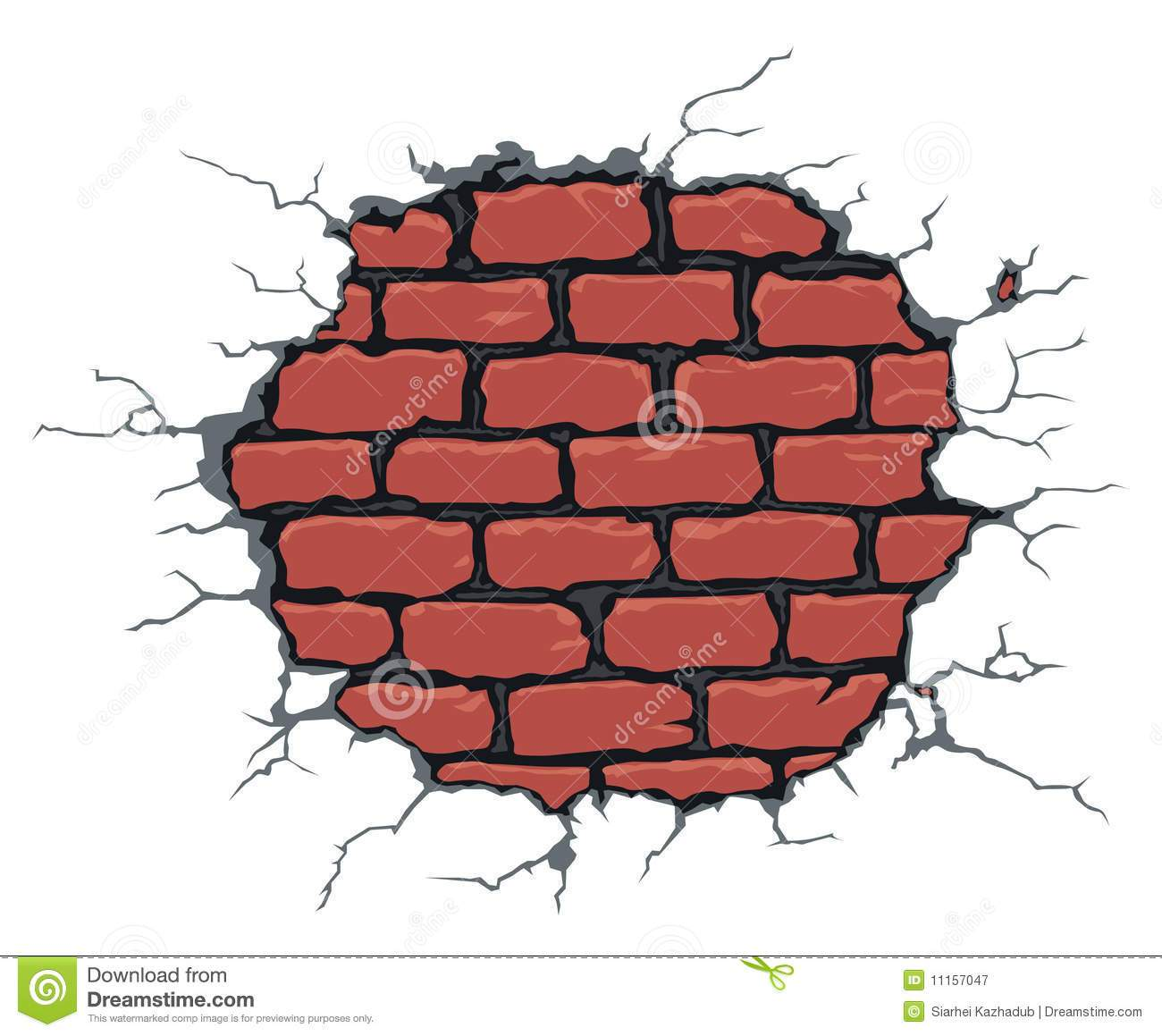 jpg stock Broken drawing at paintingvalley. Cracked brick wall clipart