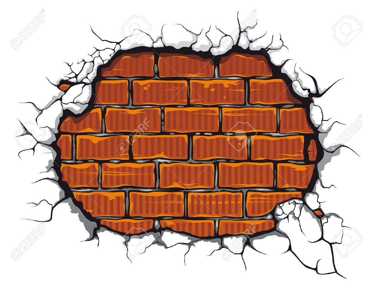 picture free library Cracked brick wall clipart. Drawing at paintingvalley com