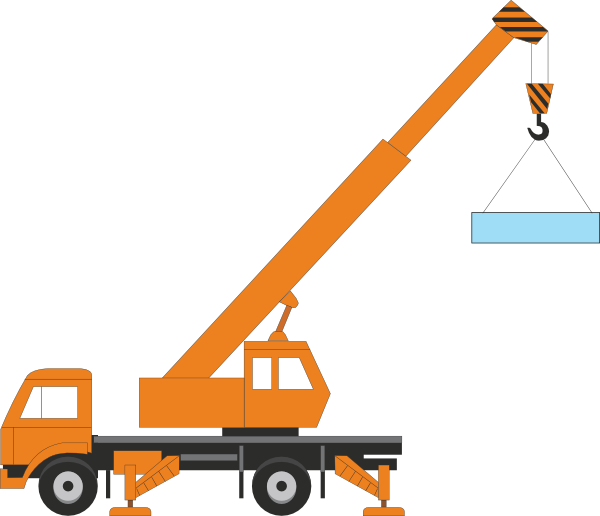 svg royalty free download Crane Truck Drawing at GetDrawings