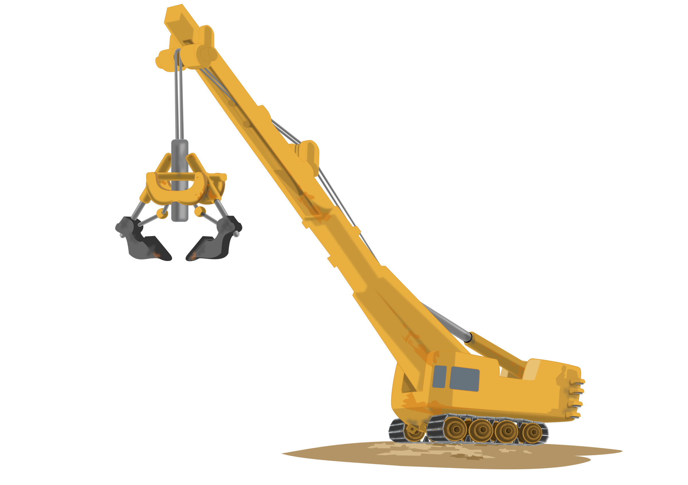 jpg black and white download Transparent free on dumielauxepices. Construction crane clipart.