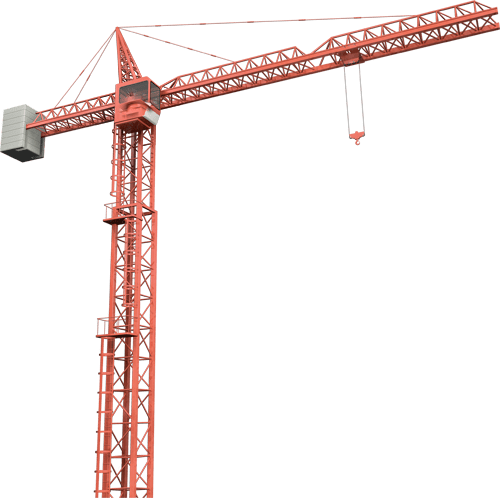 vector black and white download Construction crane clipart. Telescopic crawler transparent png.