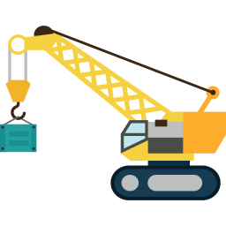 jpg royalty free Crane clipart machinery. Construction icon myiconfinder.