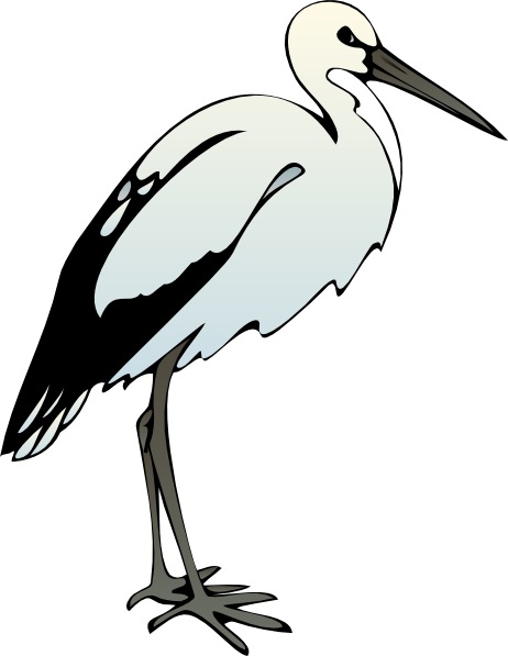 svg black and white library Animal crane clipart. Egret tagak free on