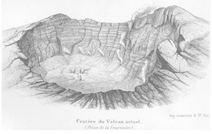 clipart black and white stock Crater drawing.  of the br.