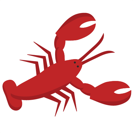 vector black and white Crawfish Clipart maine