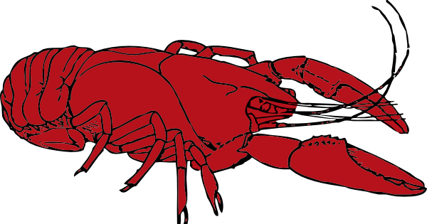 clipart library library Louisiana clipart red. Crayfish clip art at.