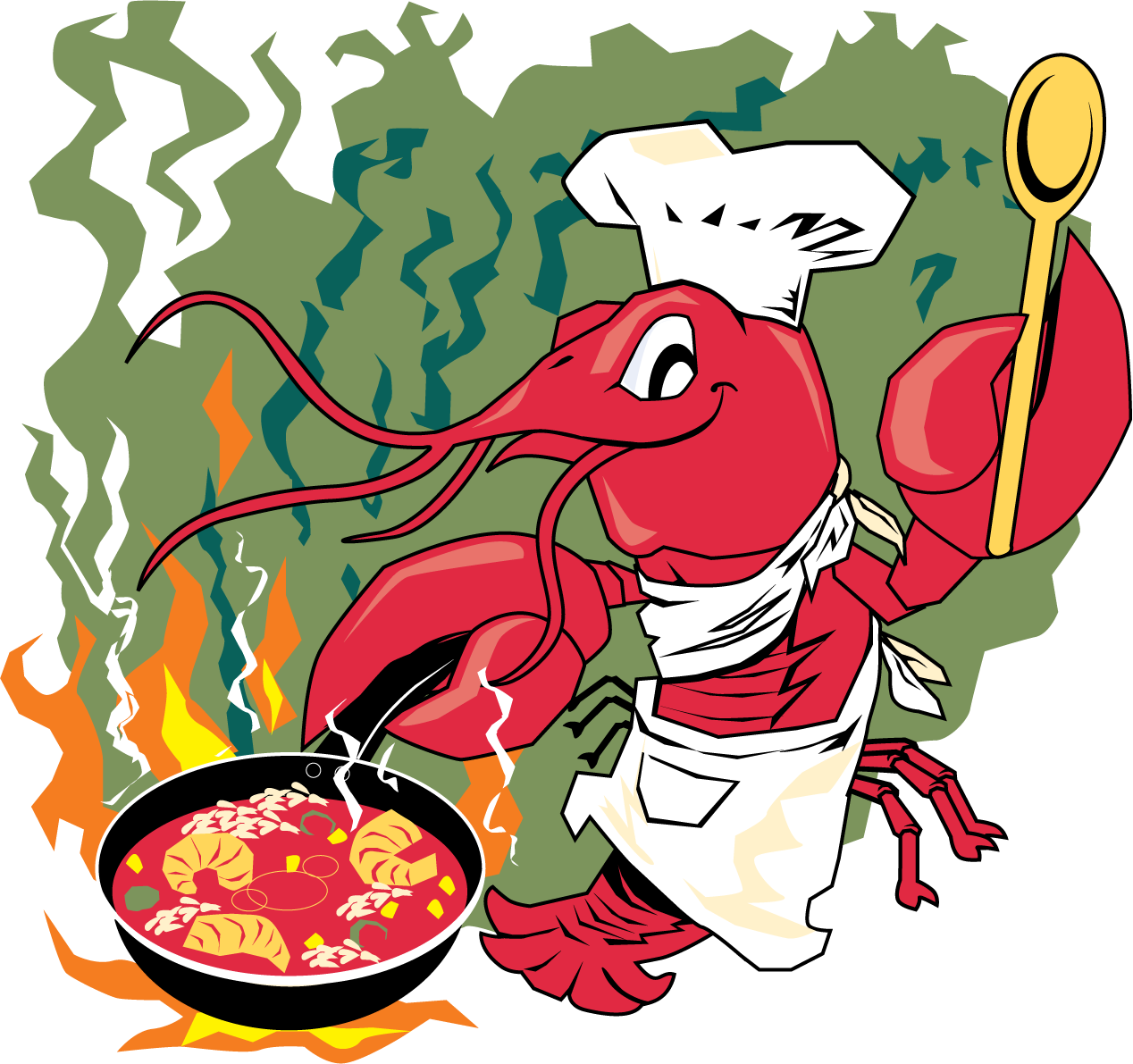 banner free library Crawfish clipart chef hat. Louisiana festival is just.