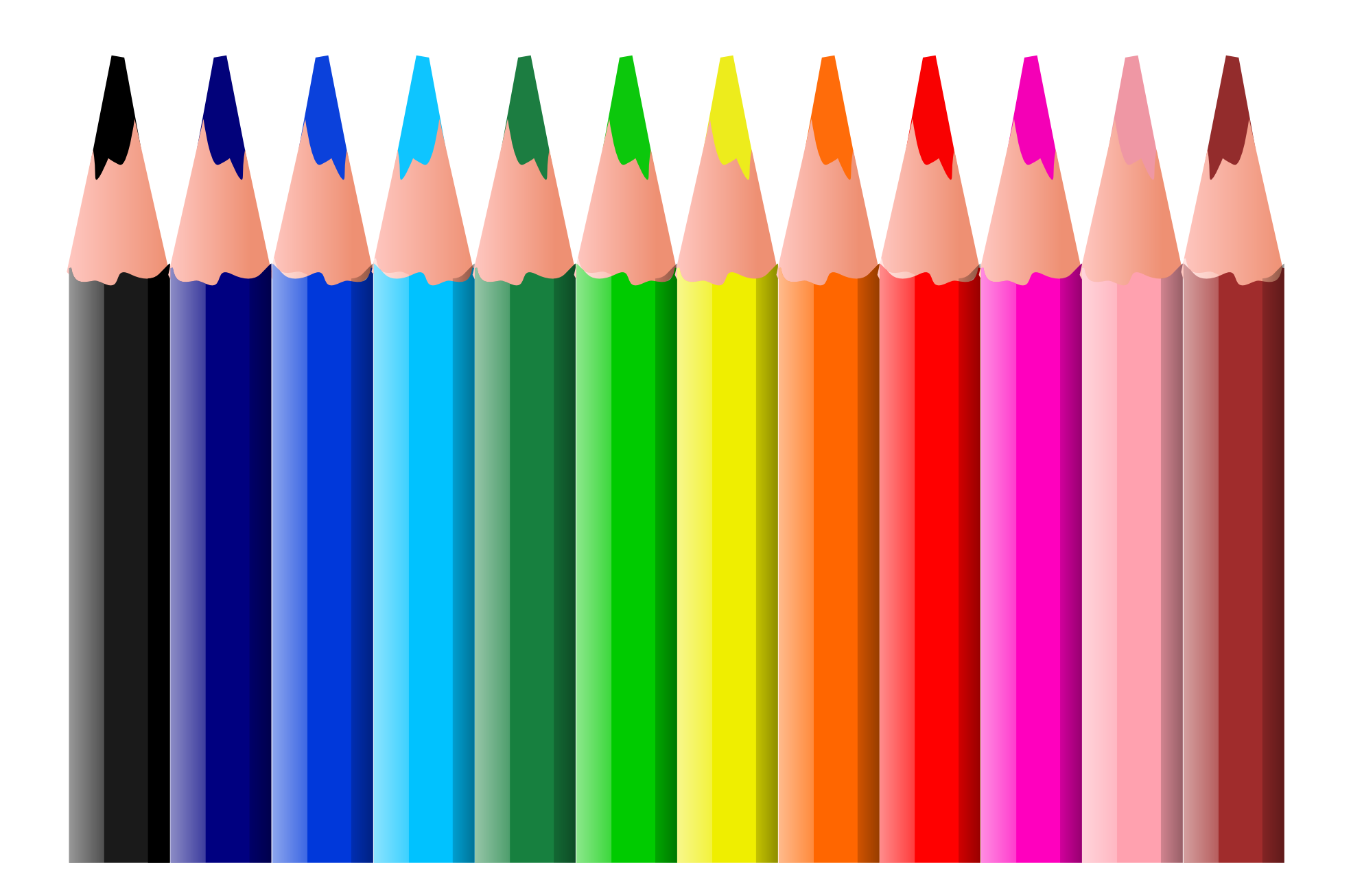 picture royalty free library Crayon Color Pencils Clipart