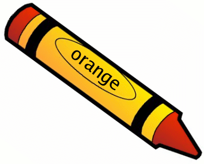 jpg black and white download I see an orange. Crayon clipart