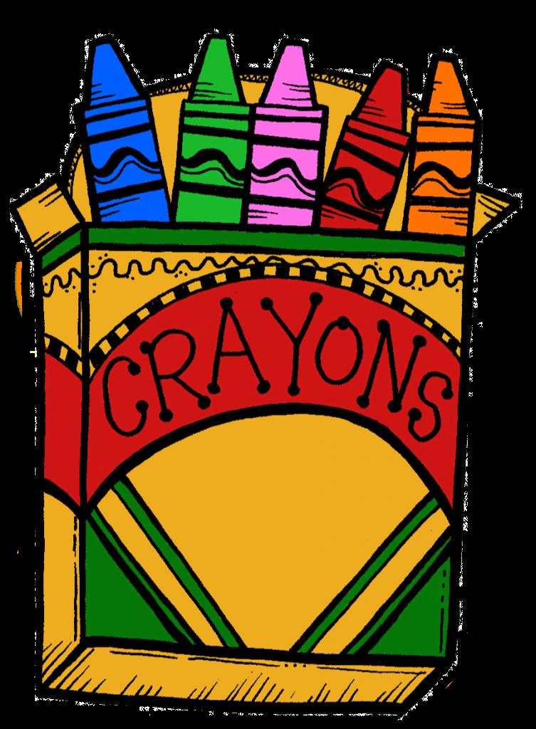 graphic transparent Crayon clipart. Crayons dinosaur top clip.