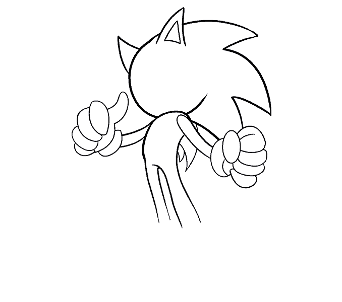 jpg black and white download How to draw the. Drawing sonic easy