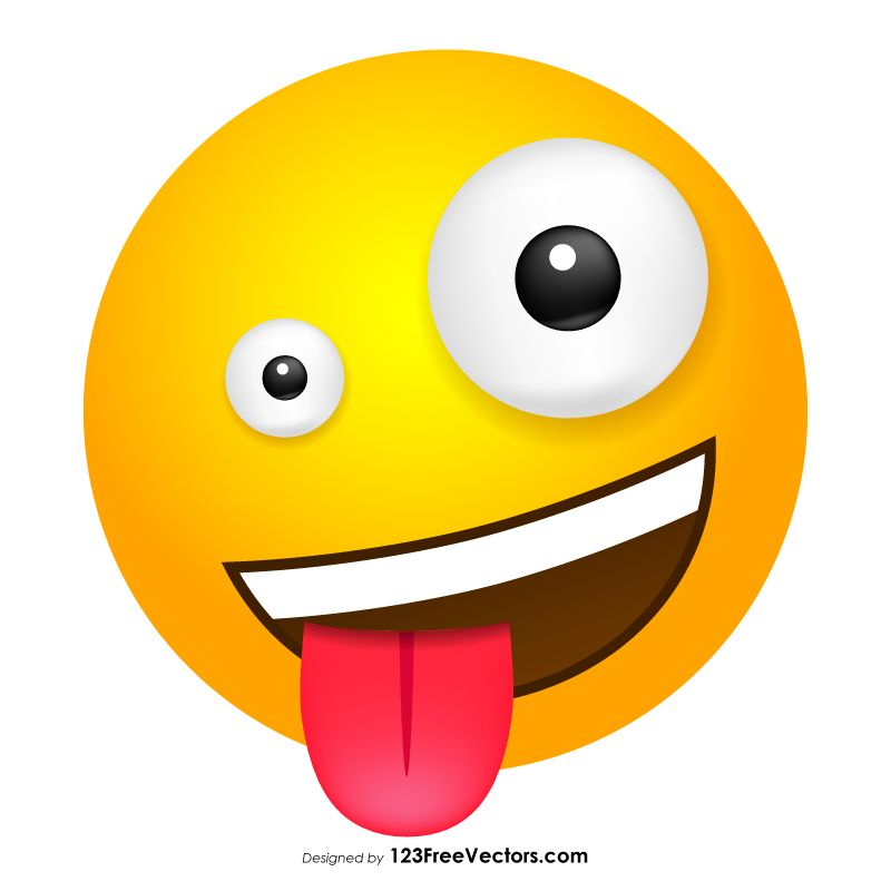 graphic transparent stock Emoticon emoji clip art. Crazy clipart