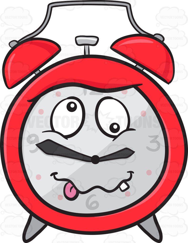 clipart black and white library Looney alarm emoji alarmclock. Crazy clipart clock