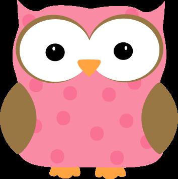 clip art black and white library Pink Polka Dot Owl Clip Art