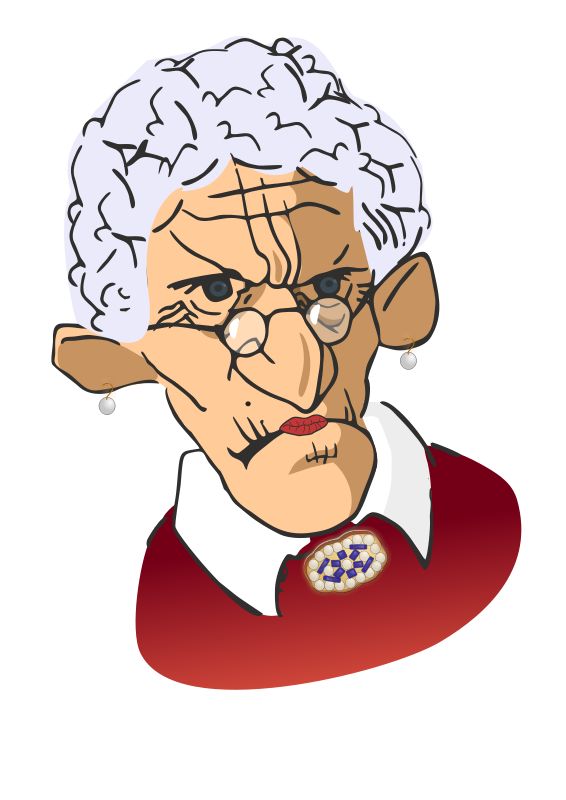 clipart free download Crazy lady clipart.  collection of grumpy