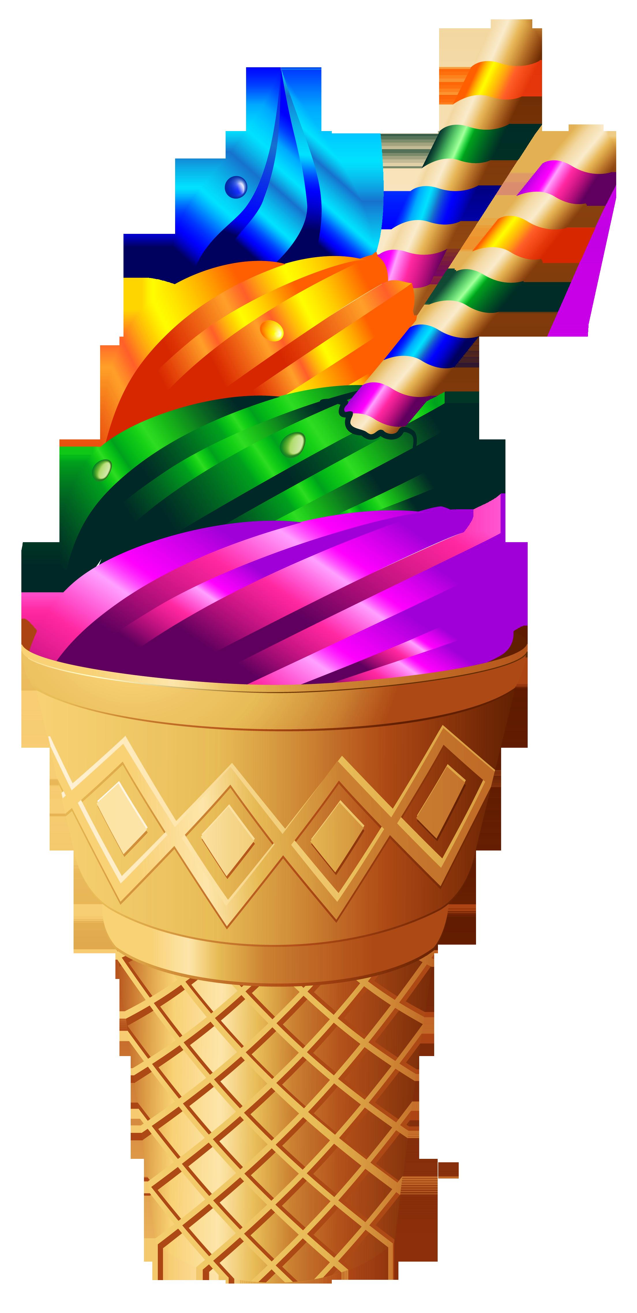 clip art freeuse library Sundae clipart gelato italian. Transparent rainbow ice cream