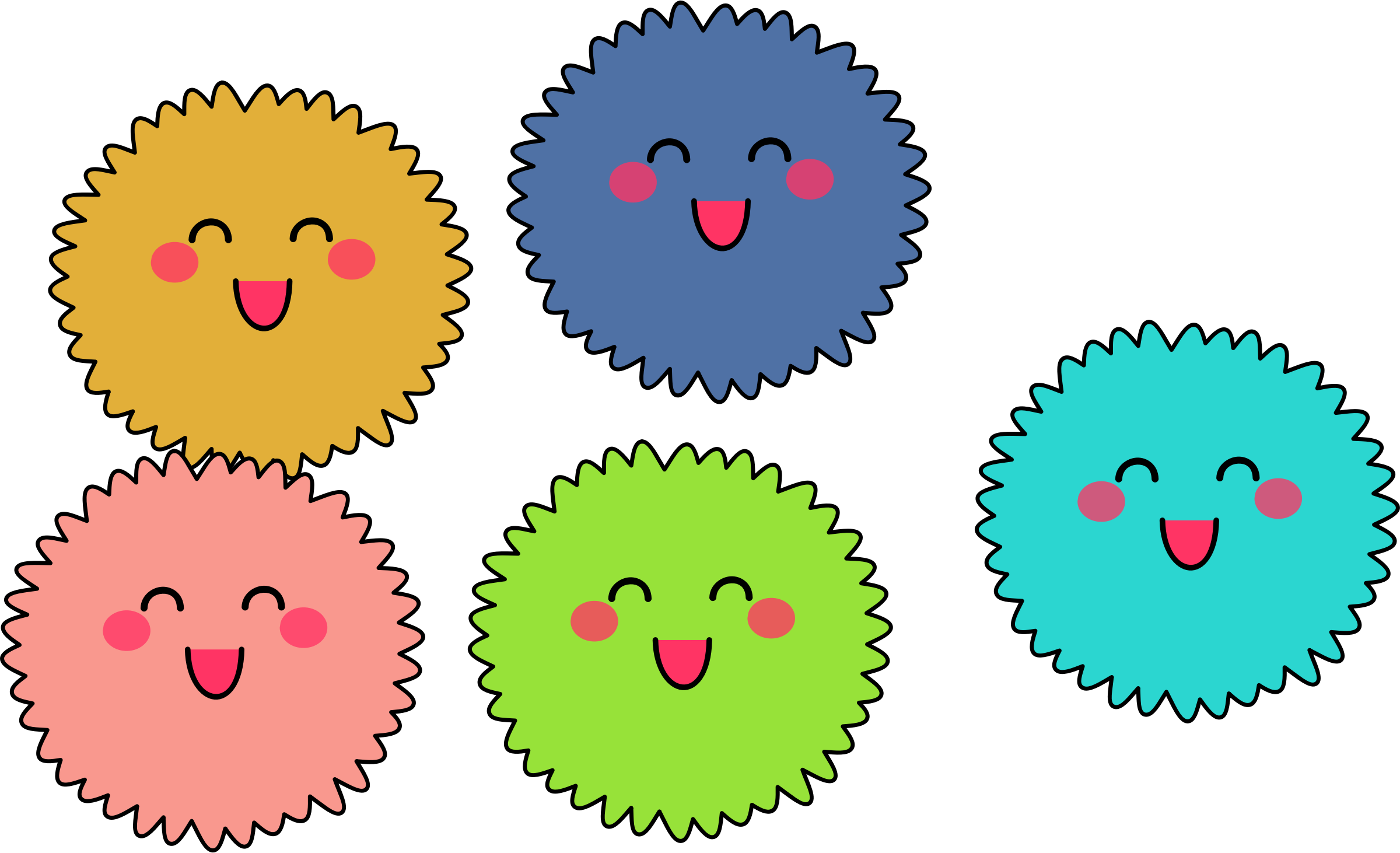 banner free Cute fuzzies big image. Creatures clipart.