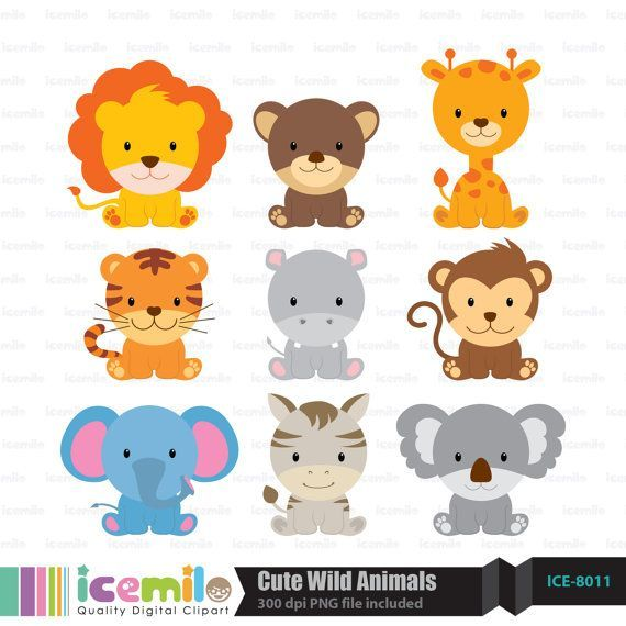 banner Free download wild for. Cute animal clipart