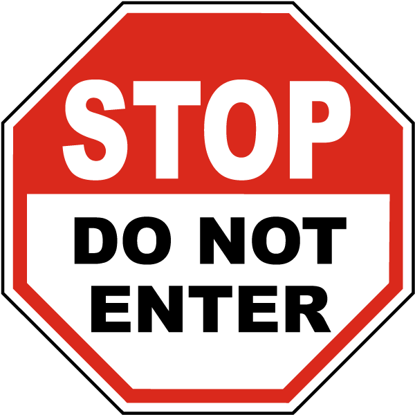 jpg black and white 911 clipart emergency sign. Stop do not enter