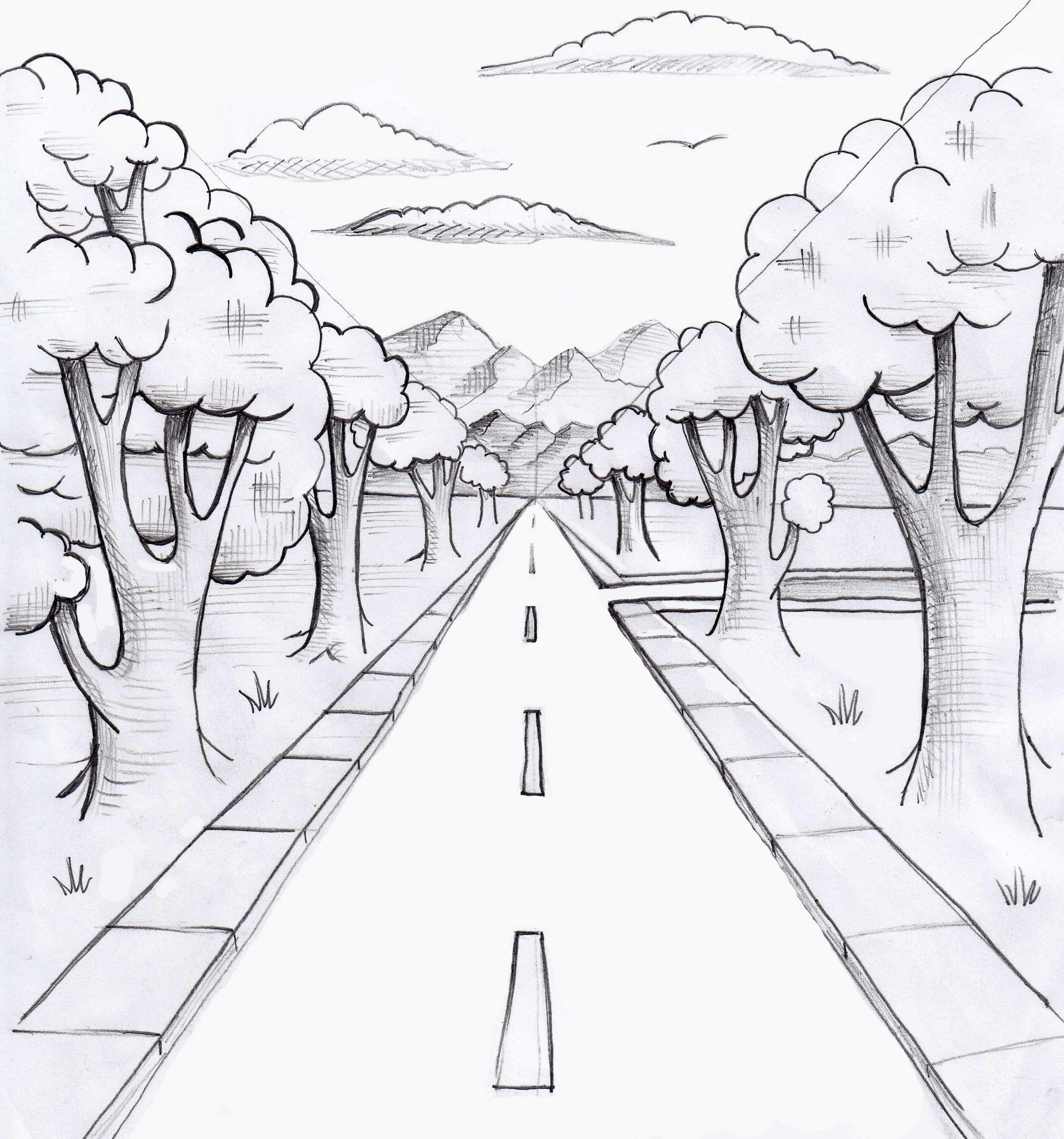jpg freeuse stock Perspective . Drawing perspectives road